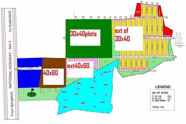 RK Rainbow Residency Layout Plan