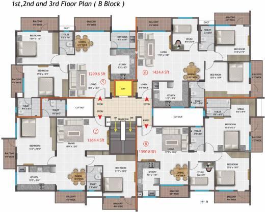PNR Brinda Residency Cluster Plan
