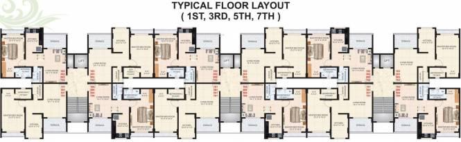 Happy Home Ekta Apartments Cluster Plan