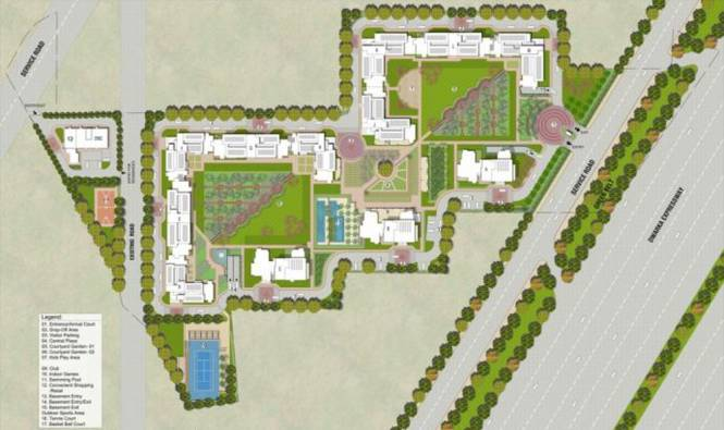 Vatika Sovereign Park Master Plan