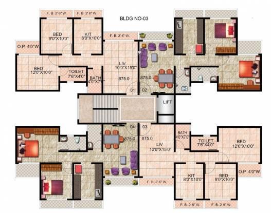 Wadhwa Daisy Gardens Cluster Plan