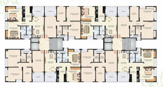 Happy Home Anant Apartment Cluster Plan
