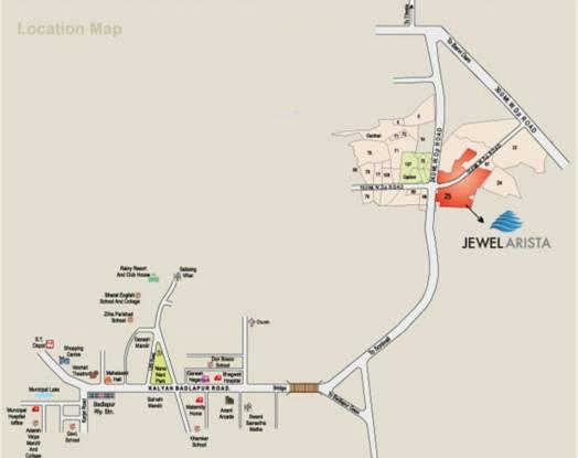 Jewel Jewel Arista Location Plan