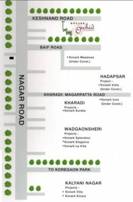 Karia Konark Orchid Location Plan