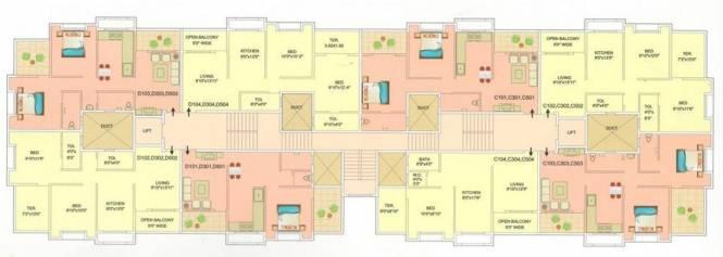 Aryavedant Residency Cluster Plan