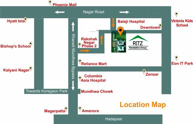 Navalakha Ritz Location Plan