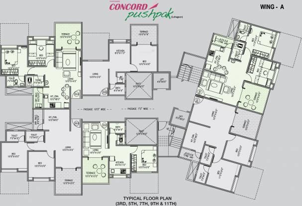 Concord Pushpak Cluster Plan
