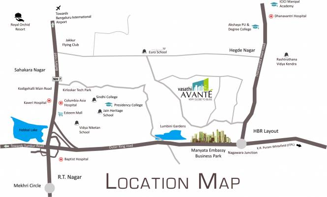 Vasathi Avante Location Plan