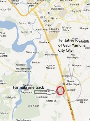 Gaursons Gaur Yamuna City Location Plan