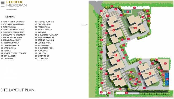 Lodha Meridian Site Plan