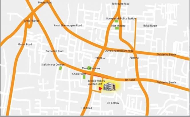 Kgeyes Kgeyes Arulagam Location Plan