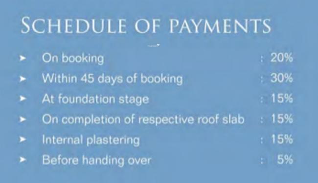 Navin Jayaram Gardens Payment Plan