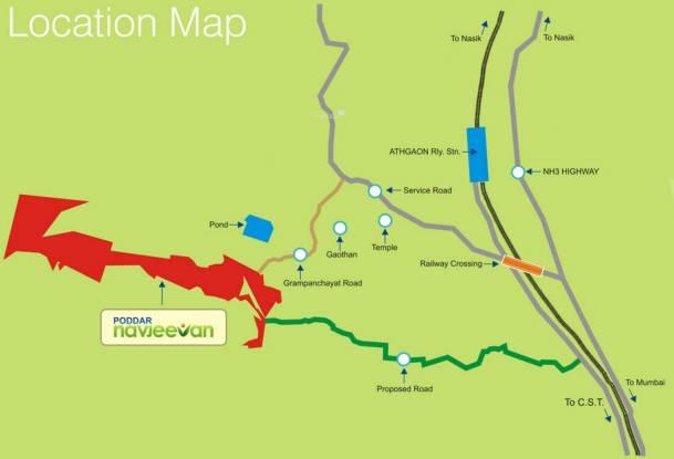 Poddar Navjeevan Location Plan