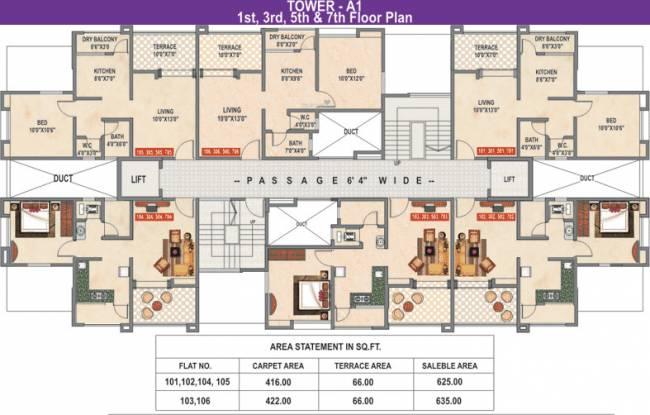 Vedant Kingston Elysia Cluster Plan