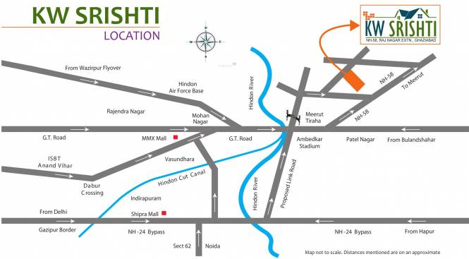 K World Srishti Location Plan