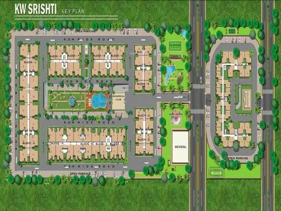 K World Srishti Site Plan