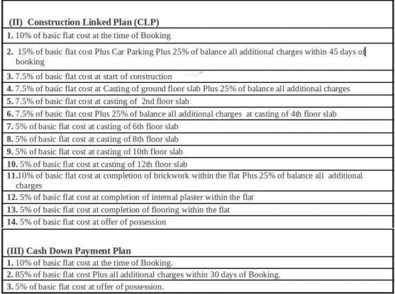 Techman Moti Residency Payment Plan