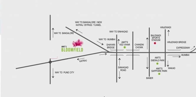 Amit Bloomfield Villas Location Plan