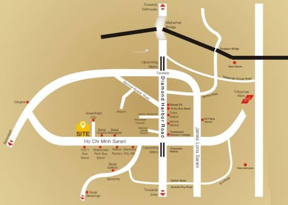Balaji Crimson Location Plan