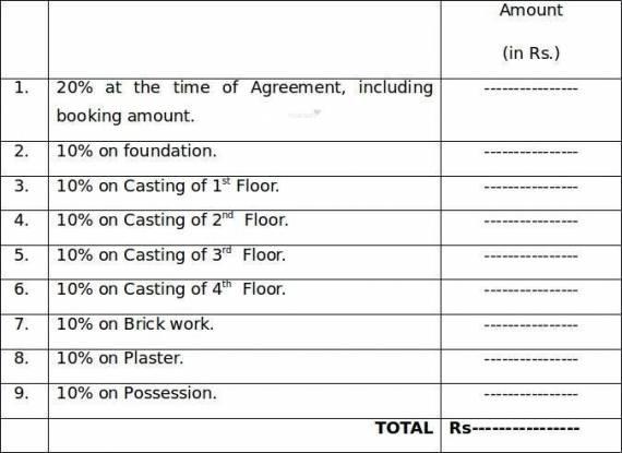 Balaji Crimson Payment Plan