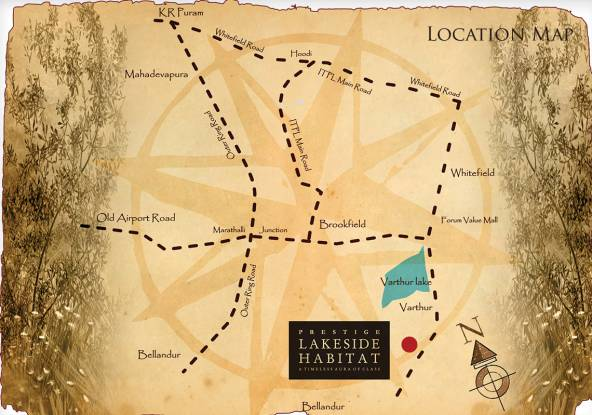 Prestige Lakeside Habitat Location Plan