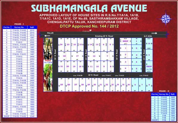 ABS Subhamangala Avenue Layout Plan