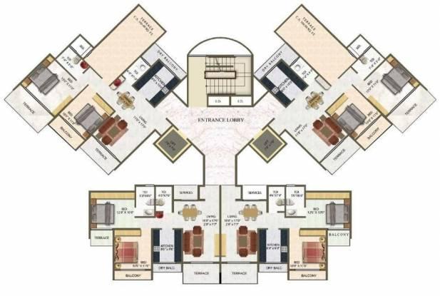 Meena Meena Residency Cluster Plan