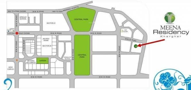 Meena Meena Residency Location Plan