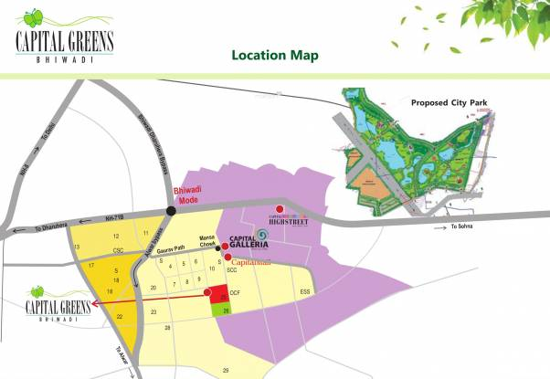 Capital Greens Location Plan