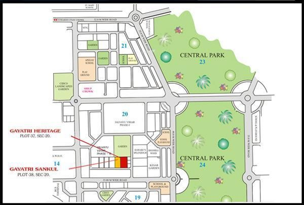 Siddhi Gayatri Heritage Location Plan