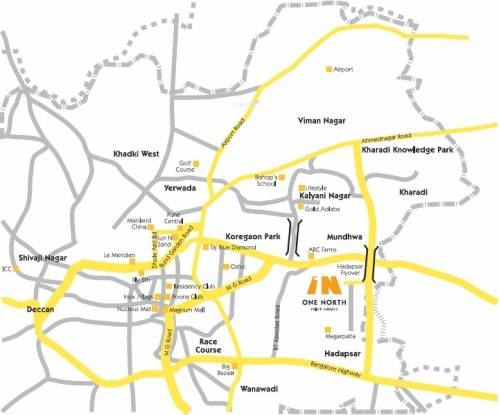 Panchshil One North Location Plan