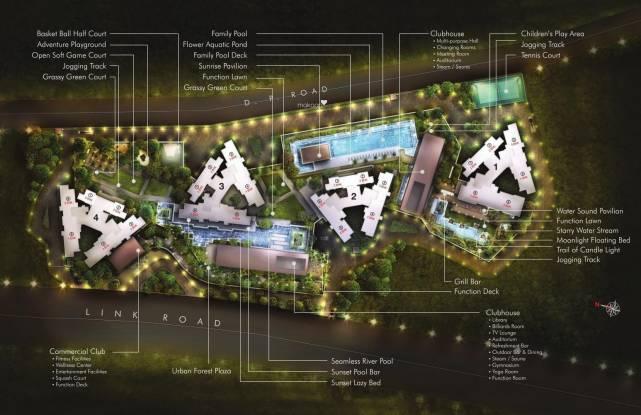 Sheth Auris Serenity Layout Plan