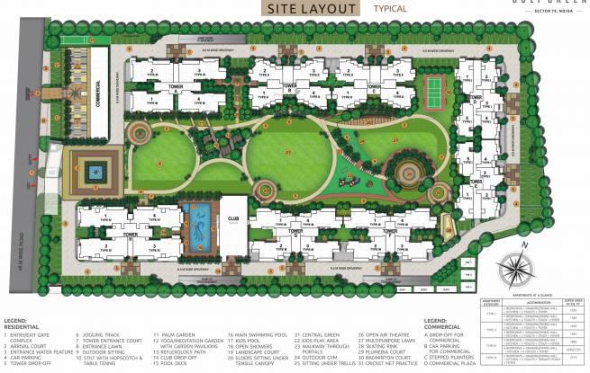 HR Buildcon Elite Golf Green Site Plan