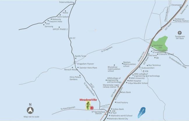 Sare MeadowVille Plots Location Plan