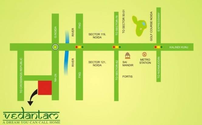 Radicon Vedantam Location Plan