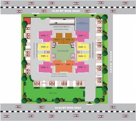 Grah Green View Heights Layout Plan
