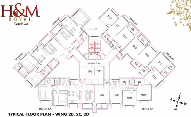 Salarpuria Sattva H And M Royal Cluster Plan