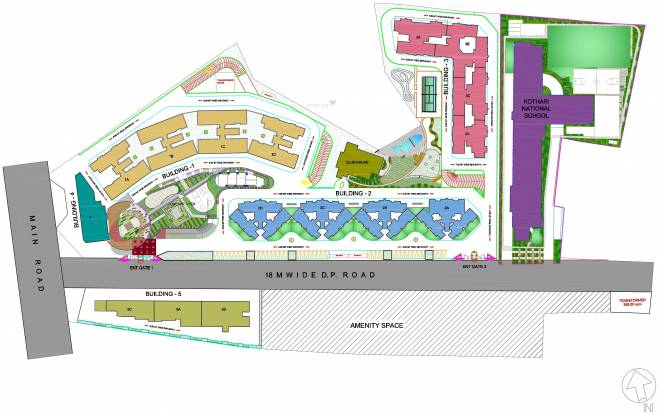 Salarpuria Sattva H And M Royal Site Plan