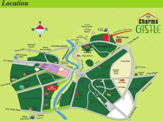Charms Castle Location Plan