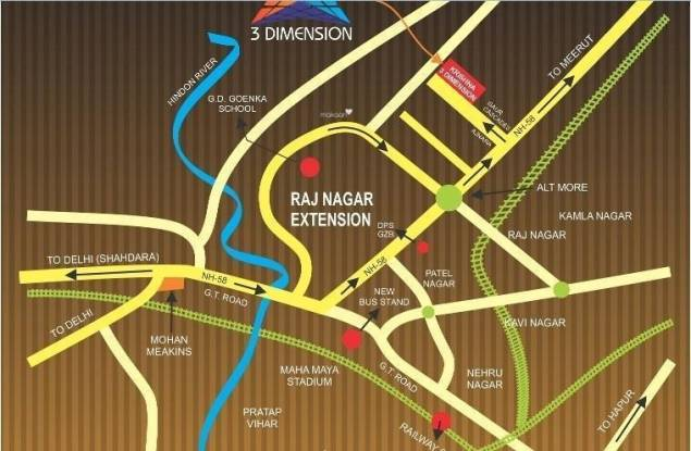 Krishna 3 Dimension Location Plan