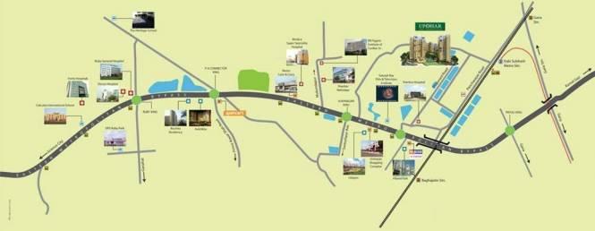 Ambuja Upohar Location Plan