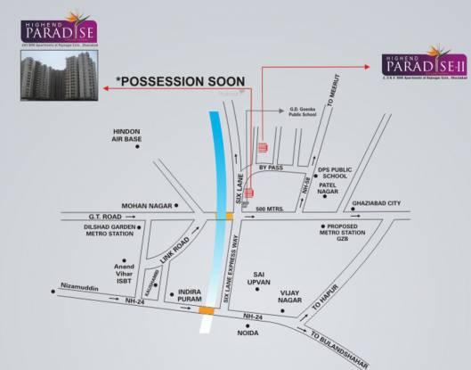 High End Paradise Location Plan