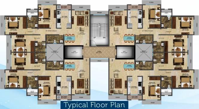 Veena Crest Cluster Plan