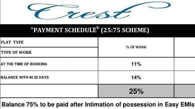 Veena Crest Payment Plan