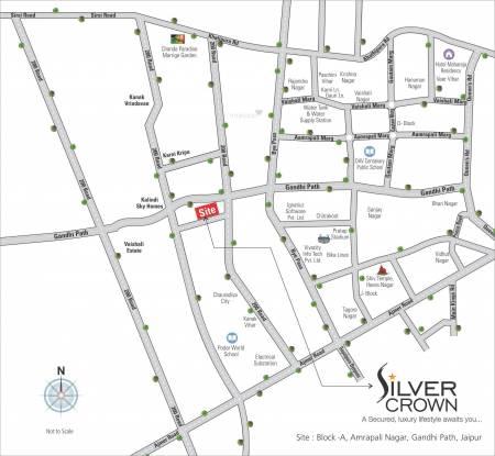 Vardhman Silver Crown Location Plan