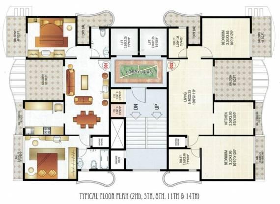 Akshar Siddhi Heights Cluster Plan