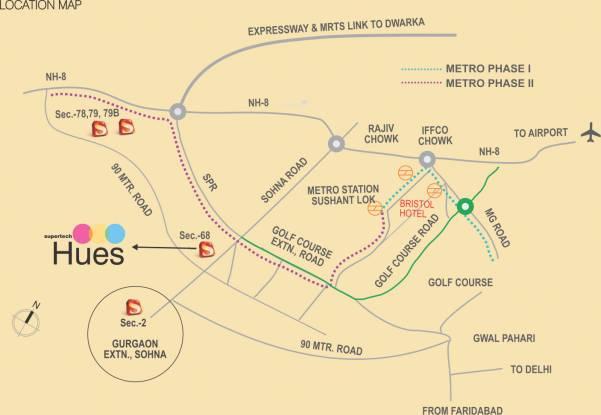 Supertech Hues Location Plan