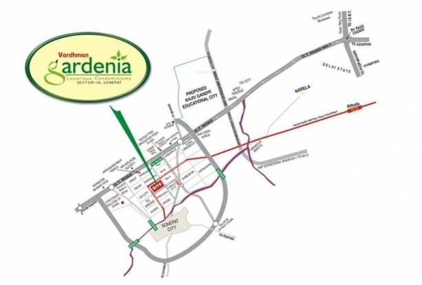 Shree Gardenia Location Plan