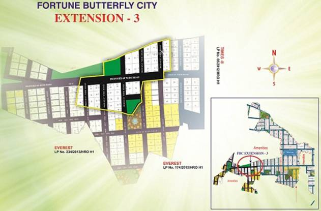 Fortune Butterfly City Layout Plan