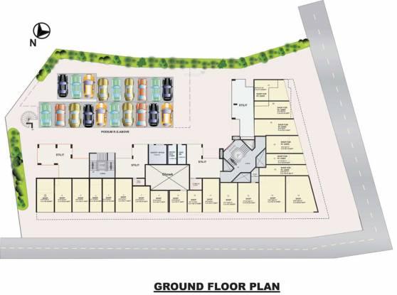 Kavya Atlantis Apartment Cluster Plan